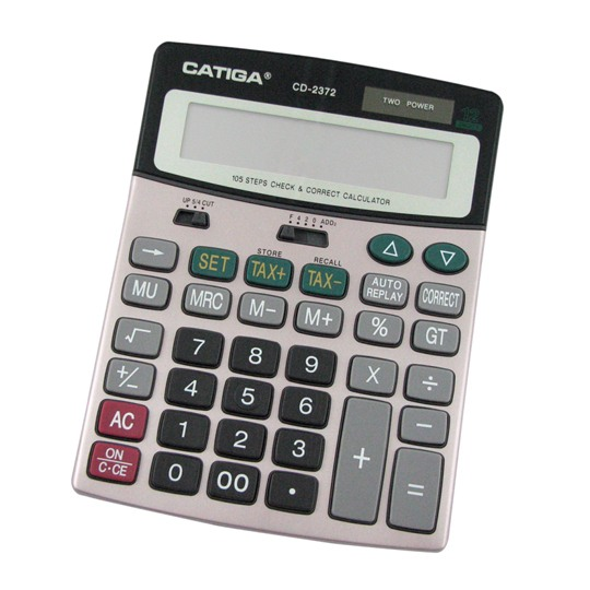 CALCULADORA DE ESCRITORIO CATIGA CD-2372 12 DIGITOS