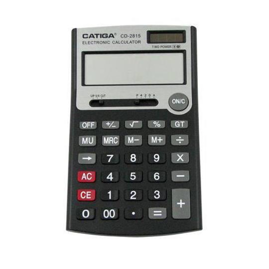 CALCULADORA BASICA SEMI-ESCRITORIO CATIGA CD-2815 12 DIGITOS