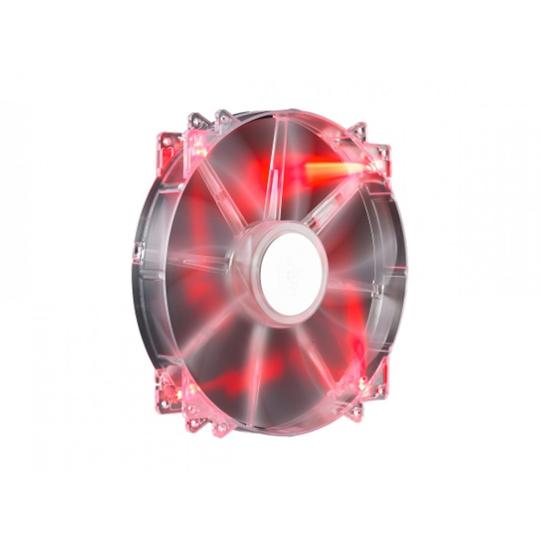 VENTILADOR DE PC GAMER COOLER MASTER MEGAFLOW 200 DE COLOR LED ROJO 3 PIN 1 PIEZA