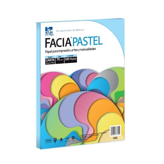Hojas FaciaNeon color azul pastel COPAMEX
