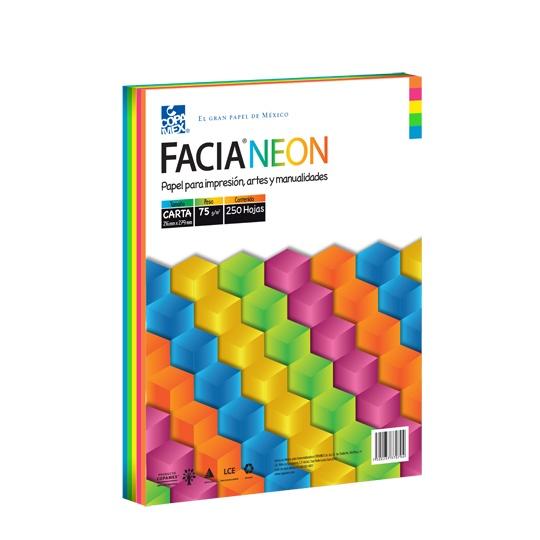 Hojas FaciaNeon de varios colores COPAMEX