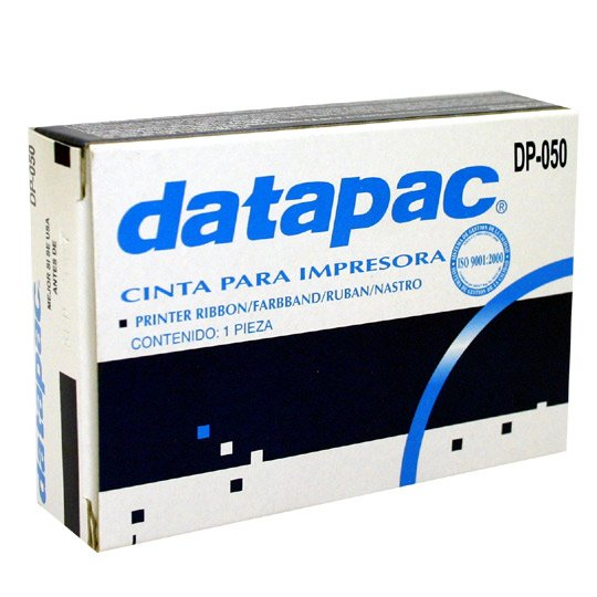 CINTA COLOR NEGRO DATAPAC DP-050 PARA ML182-/ENTEIA S10  1 PIEZA