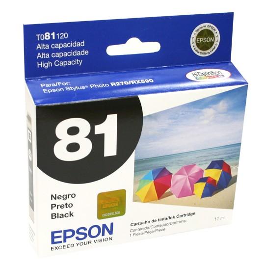 TINTA EPSON 81 COLOR NEGRO T081120-AL