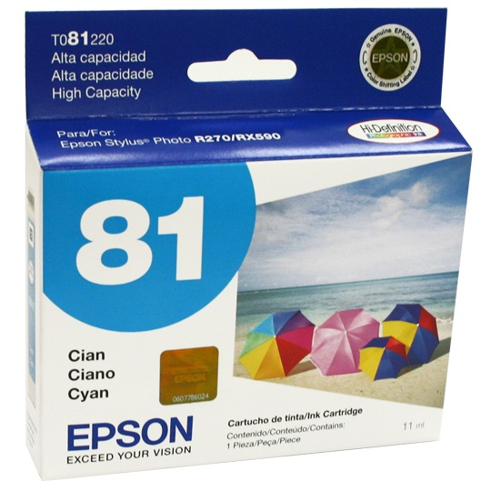 TINTA EPSON 81 COLOR CYAN T081220