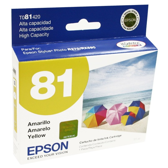 TINTA EPSON T081420 81 COLOR AMARILLO