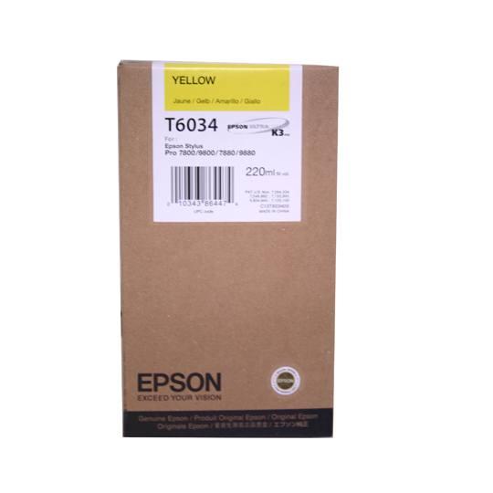 TINTA EPSON T6034 T603400 COLOR AMARILLO