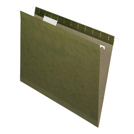 FOLDER DE PAPEL TAMAÑO CARTA TOPS PRODUCTS PENDAFLEX 4152 TIPO COLGANTE COLOR VERDE 1 PQ C/25 PZS