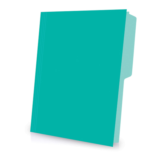 FOLDER DE PAPEL TAMAÑO CARTA TOPS PRODUCTS INTENSO TIPO 1/2 CEJA COLOR AQUA 1 PAQUETE CON 50 PIEZAS