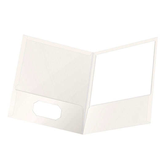 FOLDER DE PAPEL TAMAÑO CARTA TOPS PRODUCTS OXFORD 51704 TIPO PLASTIFICADO COLOR BLANCO 1 PQ C/25 PZS