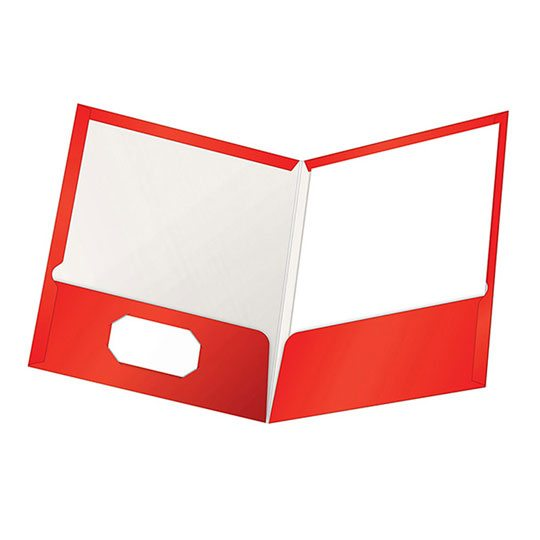 FOLDER DE PAPEL TAMAÑO CARTA TOPS PRODUCTS OXFORD 51711 TIPO PLASTIFICADO COLOR ROJO 1 PQ C/25 PZS