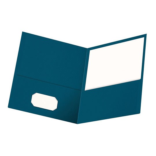 FOLDER DE PAPEL TAMAÑO CARTA TOPS PRODUCTS OXFORD 57502 TIPO PLASTIFICADO COLOR AZUL 1 PQ C/25 PZS