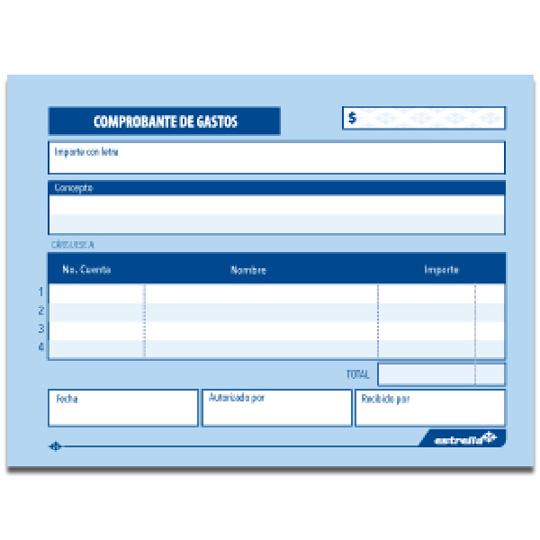 Compra COMPROBANTE DE GASTOS 0137 ESTRELLA 13.8 X 10.5 CM PAPEL BOND ...