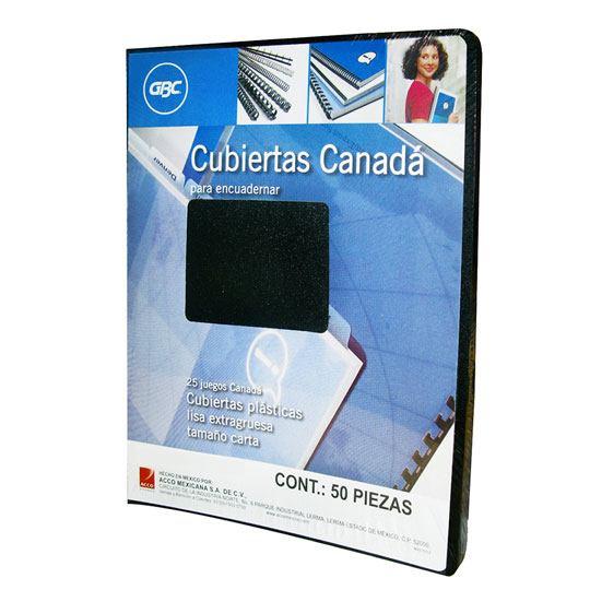 CUBIERTAS LISAS GBC CANADA COLOR NEGRO PUNTOS DE ESPESOR 17 TAMAÑO CARTA 1 PAQUETE CON 50 PIEZAS