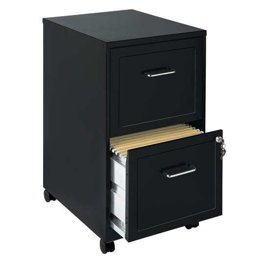 ARCHIVERO VERTICAL DE 2 GAVETAS HIRSH 16251 COLOR NEGRO