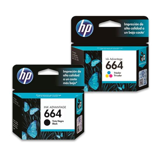 PACK HP 664 1 TINTA NEGRA Y 1 TRICOLOR