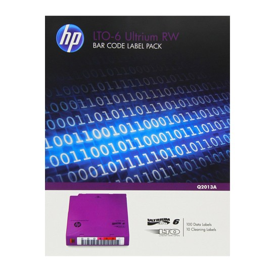 Hp lto 6 ultrium rw bar code label pa