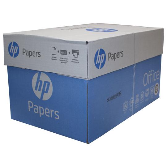 CAJA DE PAPEL BOND HP OFFICE CARTA BLANCO 92 PORCIENTO 10 PAQUETES CON 500 HOJAS