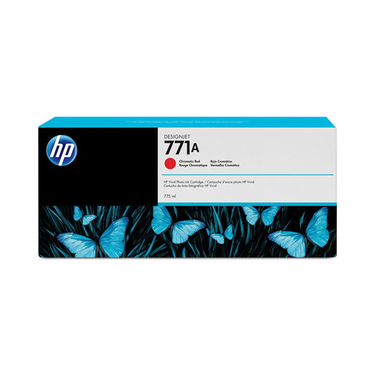Hp 771a 775ml chromatic red designjet