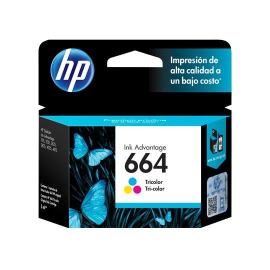 CARTUCHO DE TINTA HP 664 TRICOLOR ORIGINAL F6V28AL