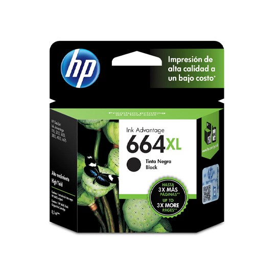 TINTA HP F6V31AL 664XL COLOR NEGRO