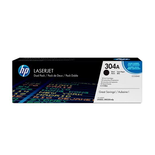 CARTUCHO DE TONER DUAL PACK HP 304A NEGRO LASERJET ORIGINAL CC530AD