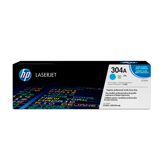 TONER HP 304A CC531A COLOR CYAN