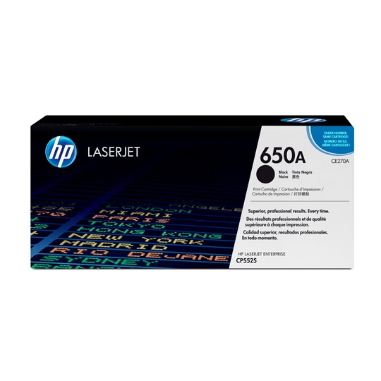TONER HP 650A CE270A COLOR NEGRO