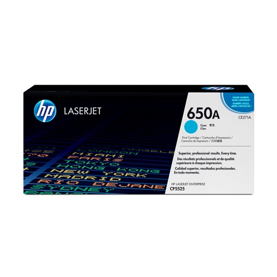 TONER HP 650A CE271A COLOR CYAN