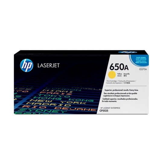 TONER HP 650A CE272A COLOR AMARILLO