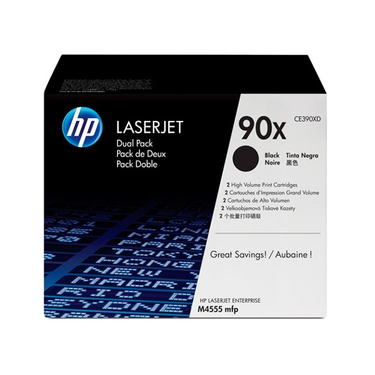 TONER DUAL PACK HP 90X CE390XD COLOR NEGRO