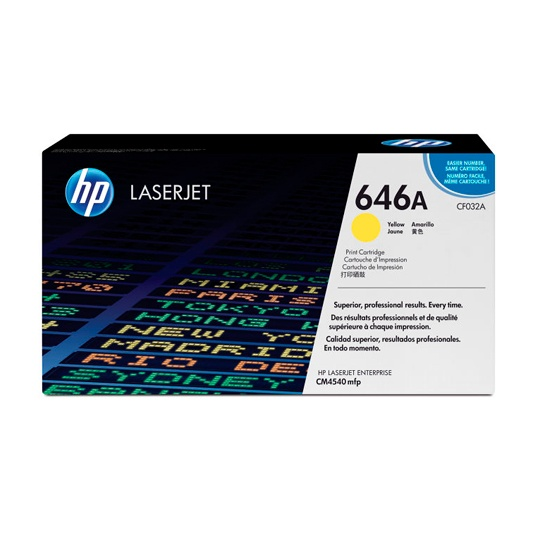 TONER HP 646A CF032A COLOR AMARILLO