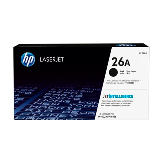TONER HP 26A CF226A COLOR NEGRO