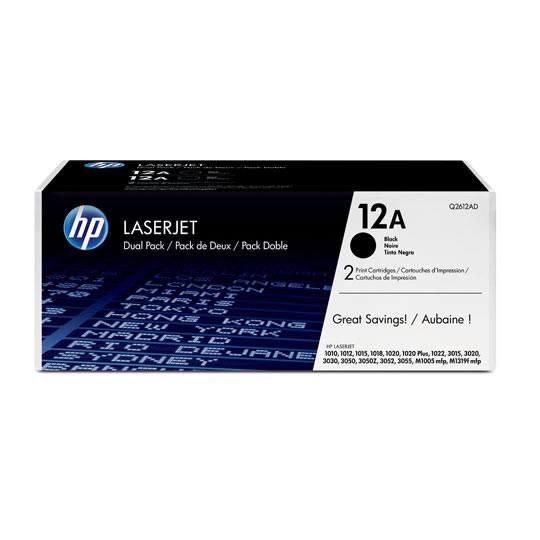 CARTUCHO DE TONERDUAL PACK HP 12A NEGRO LASERJET ORIGINAL Q2612AD