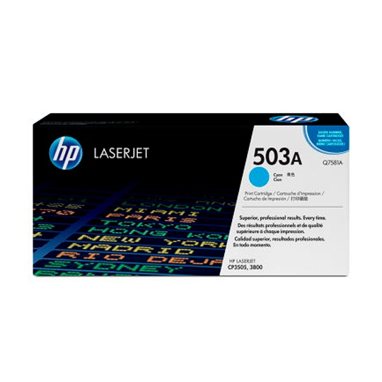 TONER HP 503A Q7581A COLOR CYAN