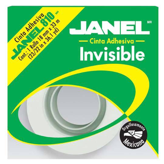 CINTA ADHESIVA INVISIBLE JANEL 810 COLOR TRANSPARENTE DE 18 MM X 33 M 1 PZA