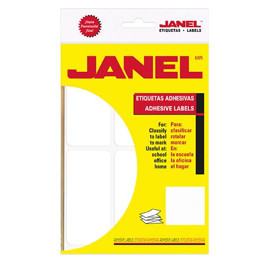 ETIQUETAS BLANCAS JANEL NO.25 DE 50X100 MM 1 PAQUETE