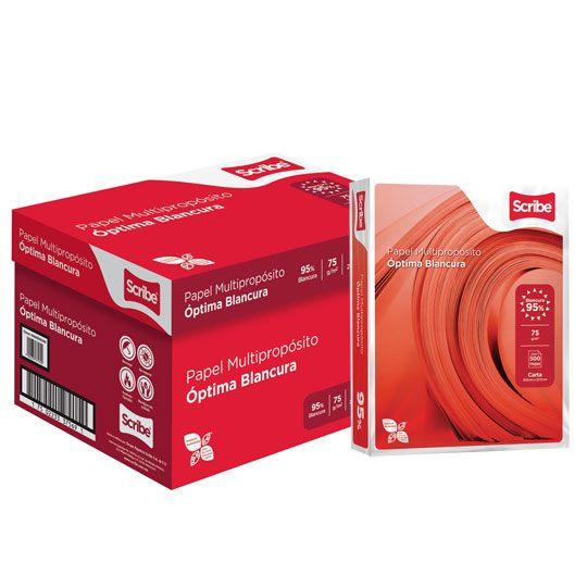 Compra caja de papel bond blanco carta scribe rojo gramaje for Papel para empapelar precio