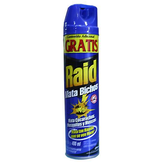 Compra insectisida aerosol mata bichos raid 305 gr en for Raid casa y jardin
