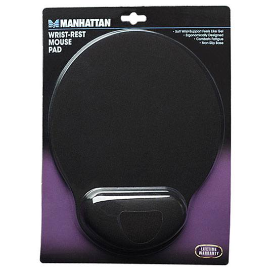 MOUSEPAD ERGONOMICO MANHATTAN 434362 COLOR NEGRO