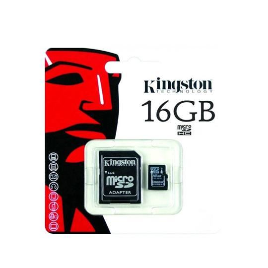 MEMORIA MICRO SD SDC4/16GB KINGSTON DE 16 GB CLASE 4 CON ADAPTADOR