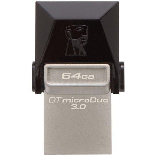 MEMORIA USB 3.0 KINGSTON DTDUO DE 64 GB GRIS