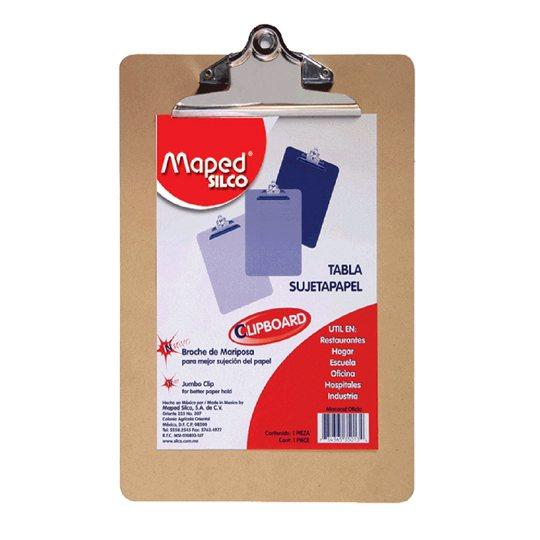 TABLA SUJETAPAPEL MAPED M35012 TAMAÑO CARTA DE PLASTICO CON BROCHE METALICO 1 PIEZA