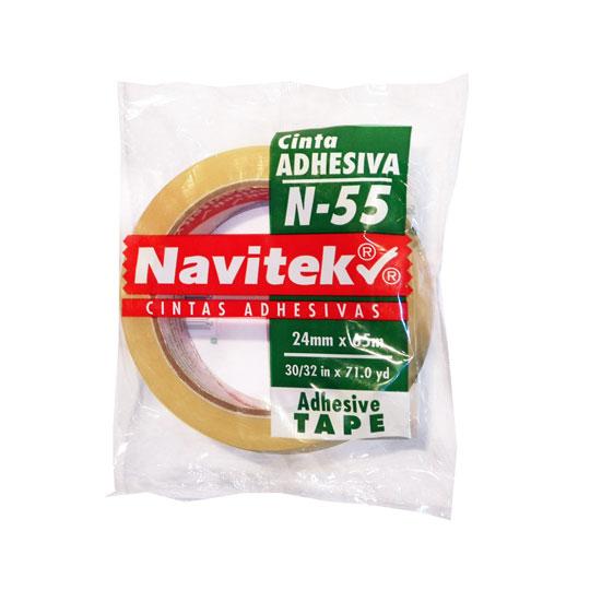 CINTA ADHESIVA CORTE FACIL NAVITEK N-55 TRANSPARENTE DE 24 MM X 65 M 1 PZA