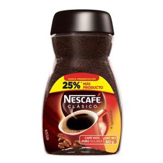 CAFE SOLUBLE NESCAFE CLASICO 60 GR