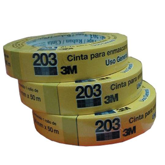 CINTA ADHESIVA MASKING TAPE SCOTCH 203 COLOR BEIGE DE 24 MM X 50 M 1 PZA