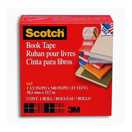 CINTA ADHESIVA PARA LIBROS SCOTCH BOOKTAPE 38 MM X 13M 1 PZA