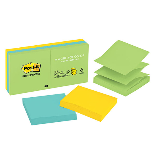 NOTA ADHESIVA REMOVIBLE POP-UP POST IT 3301AU COLORES ULTRA FORMA CUADRADA 600 HOJAS