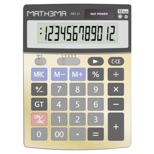 CALCULADORA DE ESCRITORIO MAHTEMA MD-21 12 DIGITOS
