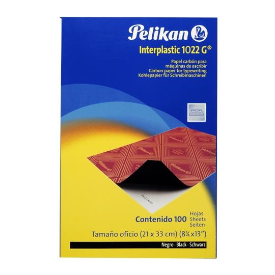 Papel carbon Oficio Negro carp.c/100h