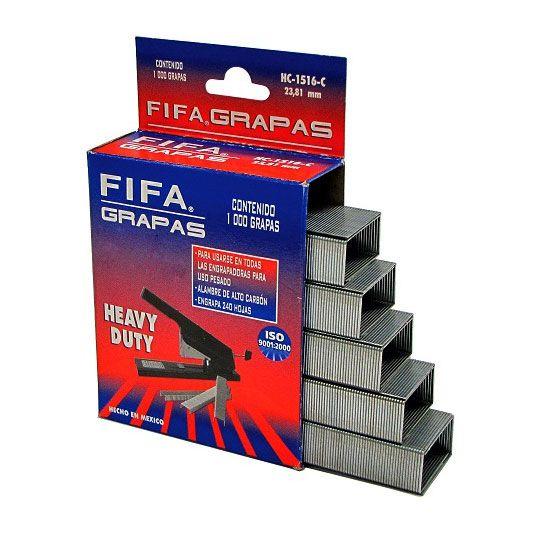 GRAPA DE USO PESADO PILOT FIFA HC38 DE 3/8 PULGADA CAJA CON 1000 GRAPAS